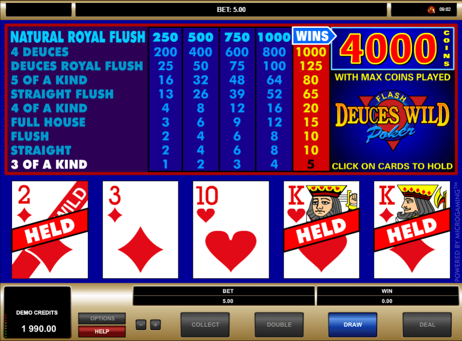 Deuces Wild Poker -654087
