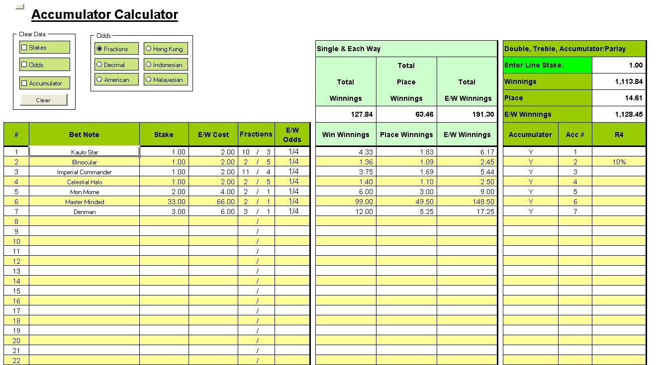 Football Odds Calculator -682136