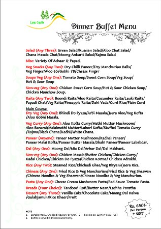 Casino Buffet Menu -529611