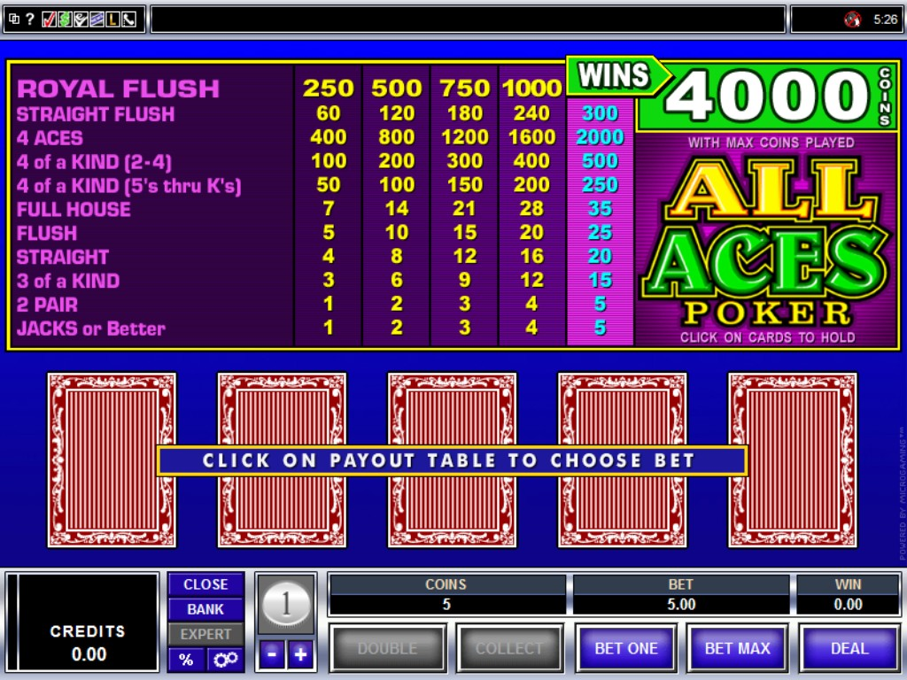 Video Poker Pay -800214